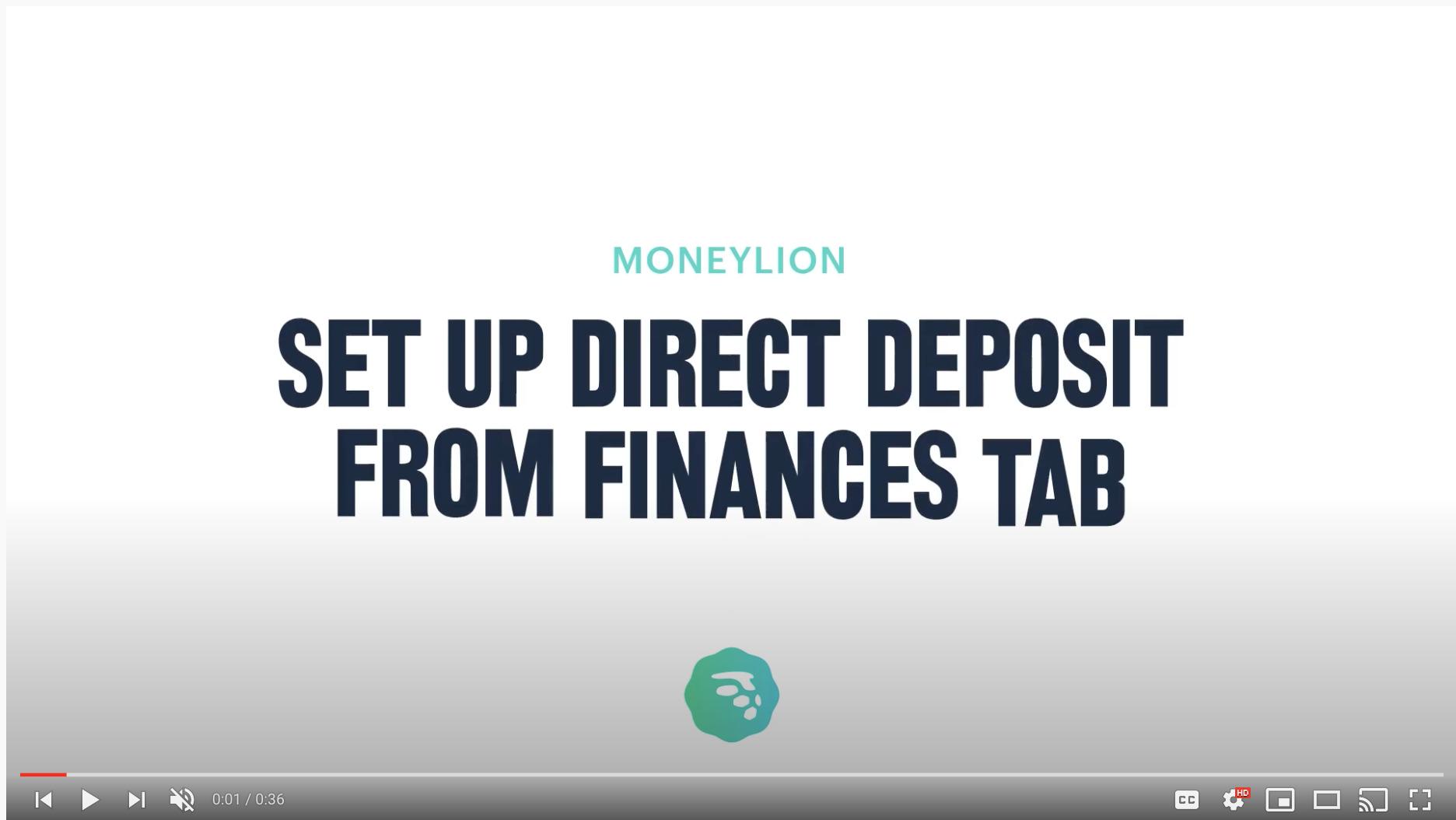 how to setup direct deposit