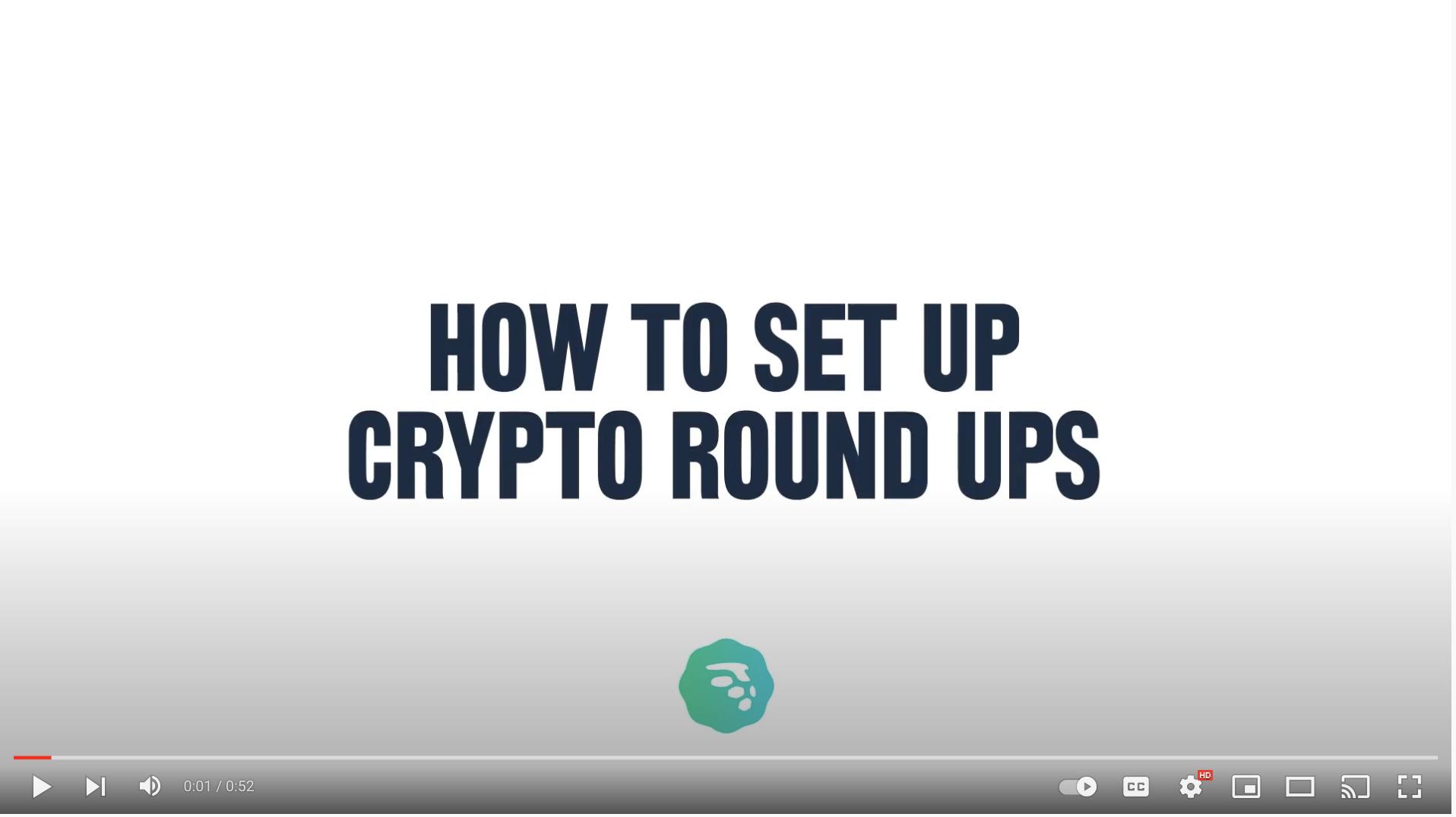how to set up crypto round ups